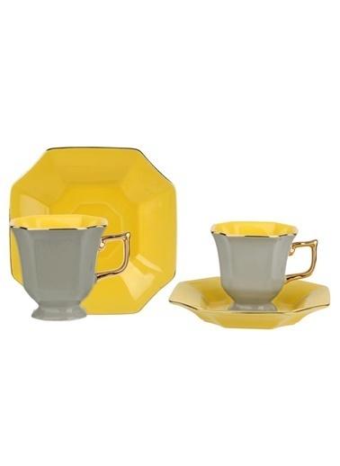 Lucky Art Gıanna 6 Kişilik Çay Fincanı Renkli